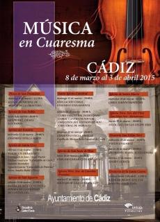 Cartel Musica en Cuaresma 2015
