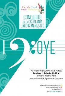 Cartel concierto Oye