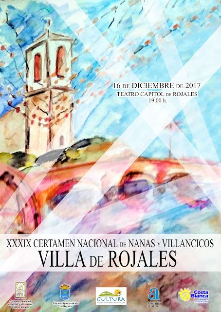 Cartel Nanas y Villancicos 2017