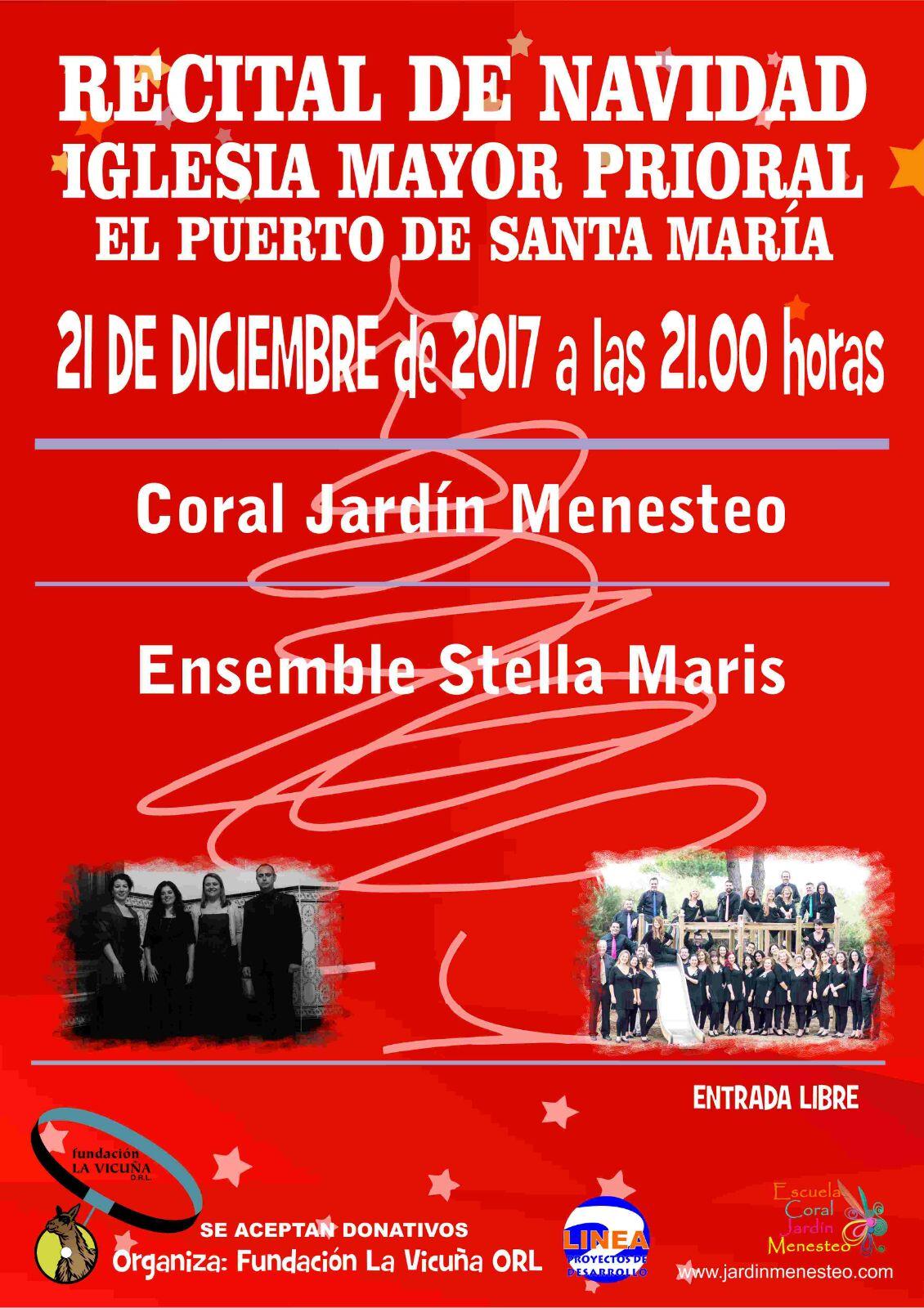 Cartel del Concierto Solidario Navidad 2017